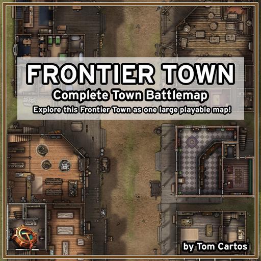 Frontier Town Complete Battlemap