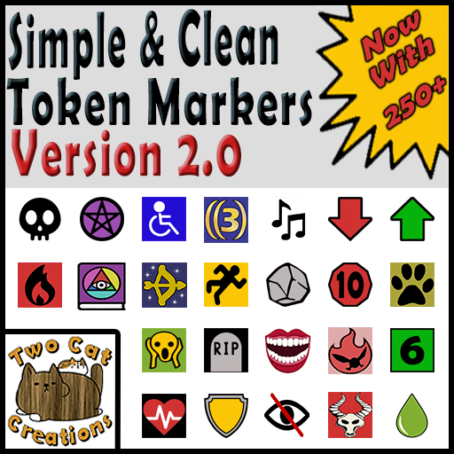 Simple & Clean Token Markers V. 2.0