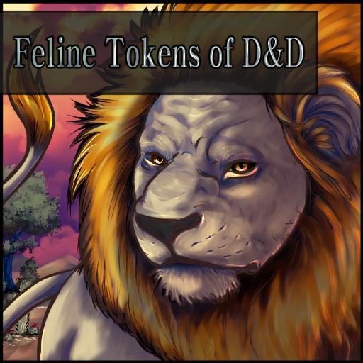 Feline Tokens of D&D