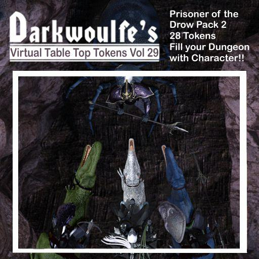 Darkwoulfe's Token Pack Vol29 - Prisoner of the Drow 2