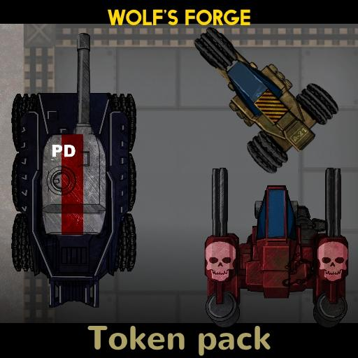 SciFi Dark Base Token Pack 4 Vehicles