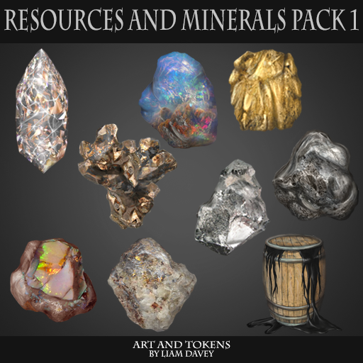 Resources and Minerals Pack 1