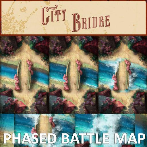 City Bridge Phased Battle Map