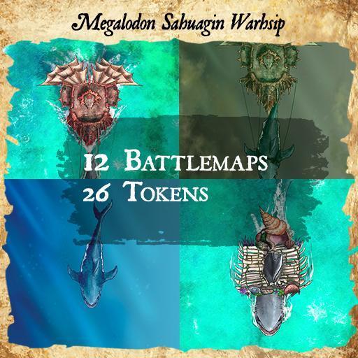 Megalodon Sahuagin Warship