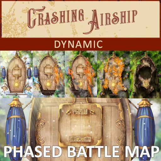 Crashing Airship Phased Battle Map | Dynamic