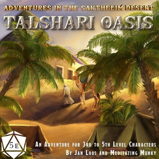 Talshari Oasis   Adventures in the Sakhelim Desert