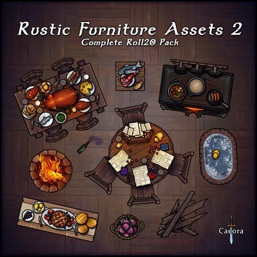 Rustic Furniture Assets 2