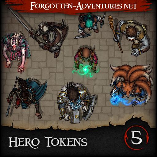 Hero Tokens - Pack 5