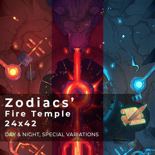 Zodiacs' Fire Temple Battlemap