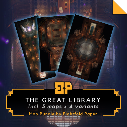 The Great Library [Bundle] - Battlemap