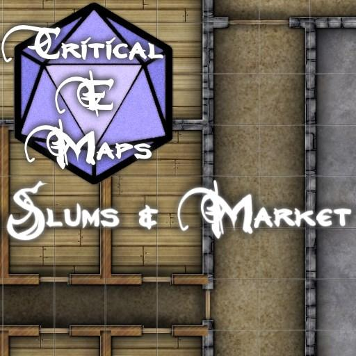 Critical E Maps: Slums & Market