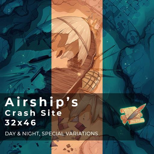 Airship's Crash Site Battlemap