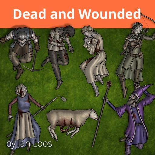 Jans Token Pack 35 - Dead and Wounded