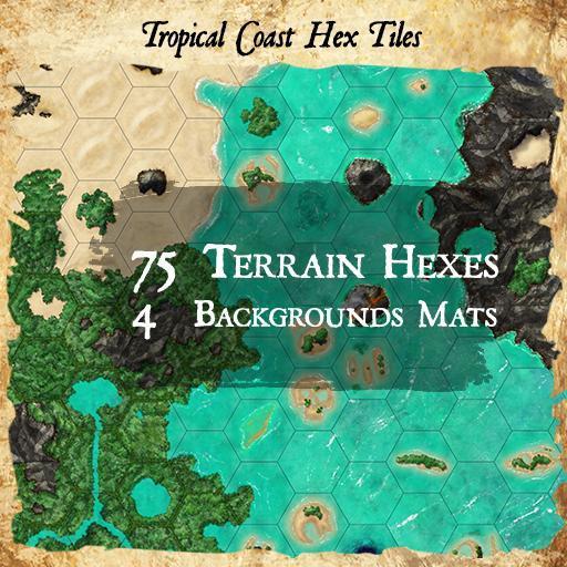 Tropical Coast Hex Tiles