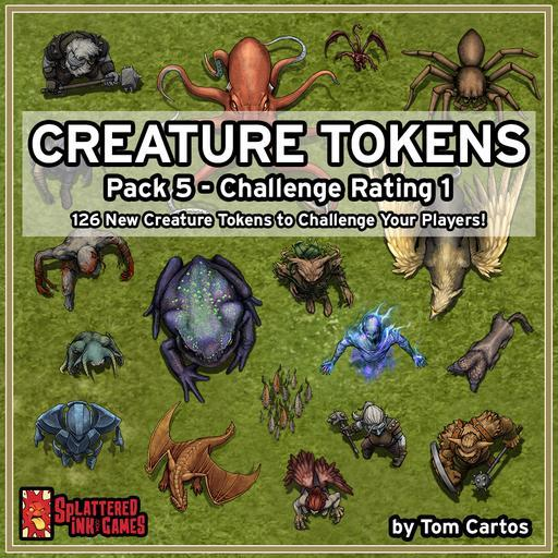 Creature Tokens Pack 5 - CR 1