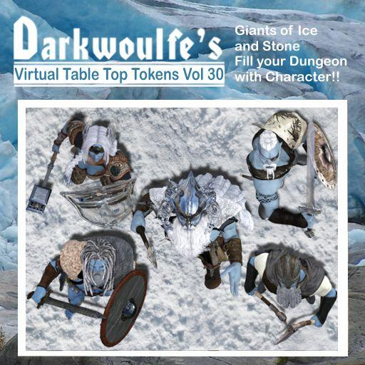 Darkwoulfe's Token Pack Vol30 - Giants of Ice and Stone