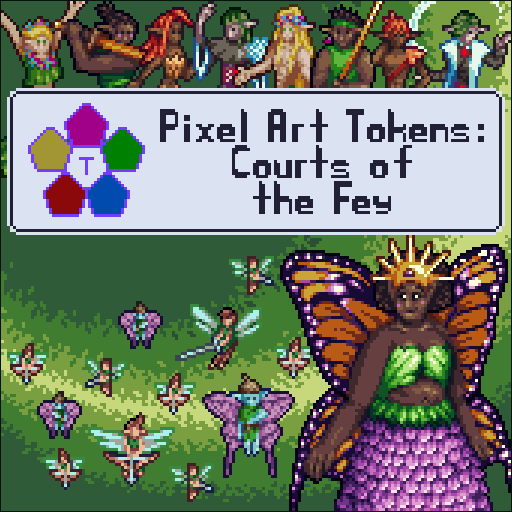 Pixel Art Tokens: Courts of the Fey