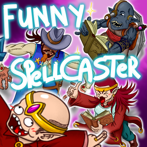 Spell Caster with funny face By Monsieur Gentil