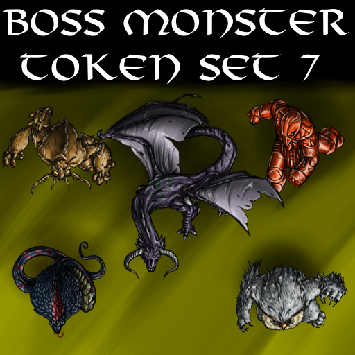 Boss Monster Token Set 7