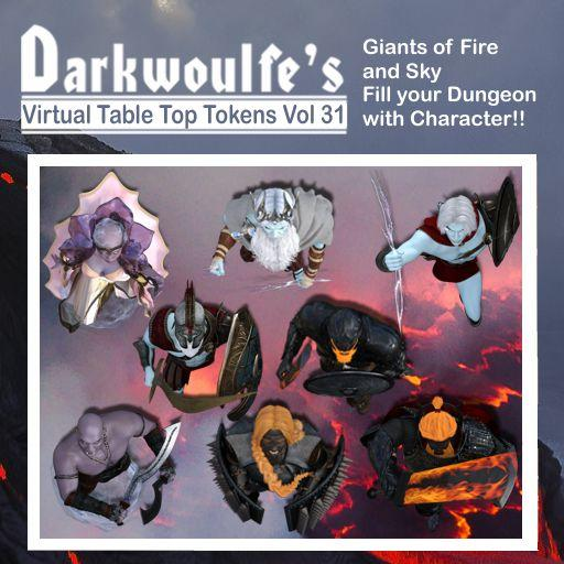 Darkwoulfe's Token Pack Vol31 - Giants of Fire and Sky