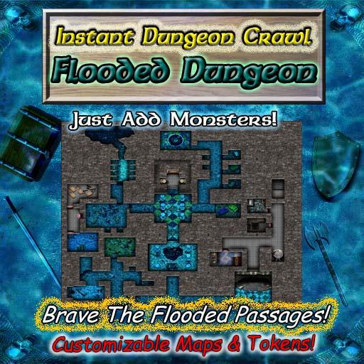 Instant Dungeon Crawl: Flooded Dungeon
