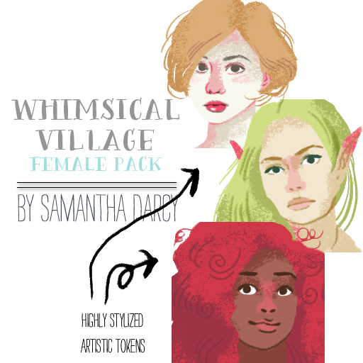 Whimsical Village - Female Pack