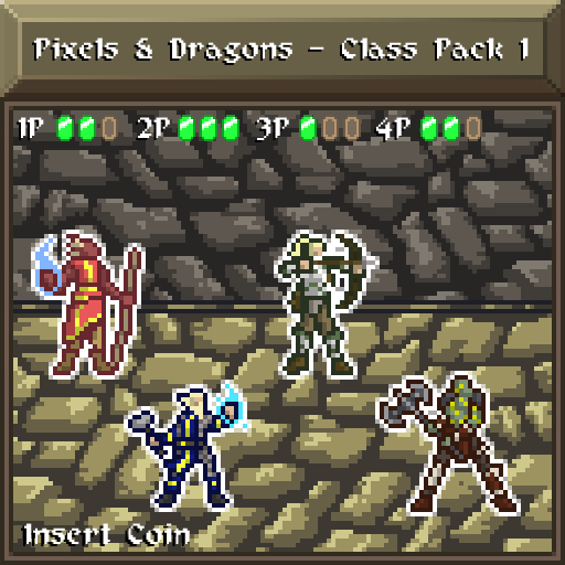 Pixels and Dragons - Class Pack 1