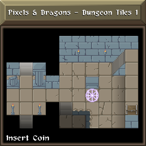 Pixels and Dragons - Dungeon Tiles 1