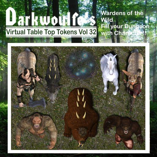 Darkwoulfe's Token Pack Vol32 - Wardens of the Wild