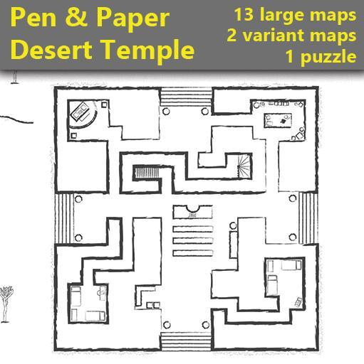 Pen & Paper - Desert Temple