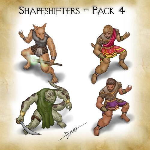 Shapeshifters - Pack 4