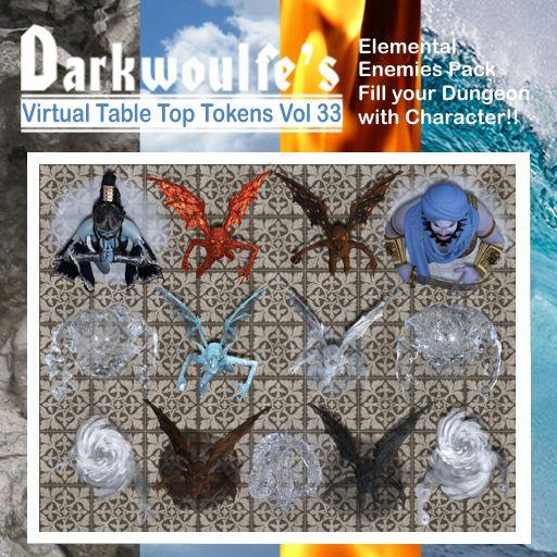 Darkwoulfe's Token Pack Vol33 - Elemental Enemies 1