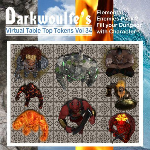 Darkwoulfe's Token Pack Vol34 - Elemental Enemies 2