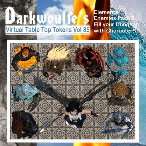 Darkwoulfe's Token Pack Vol35 - Elemental Enemies 3