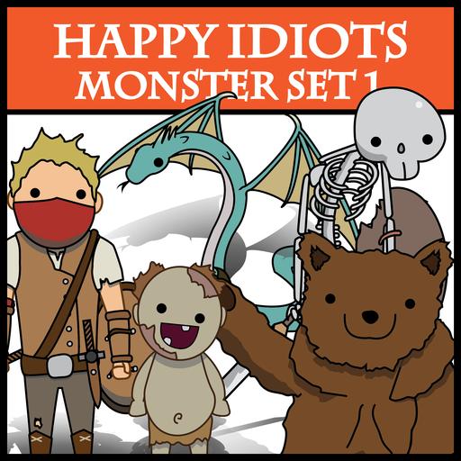 Happy Idiots Monster Set 1