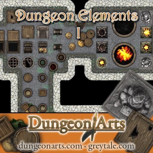 Greytale's Dungeon Elements Pack 1