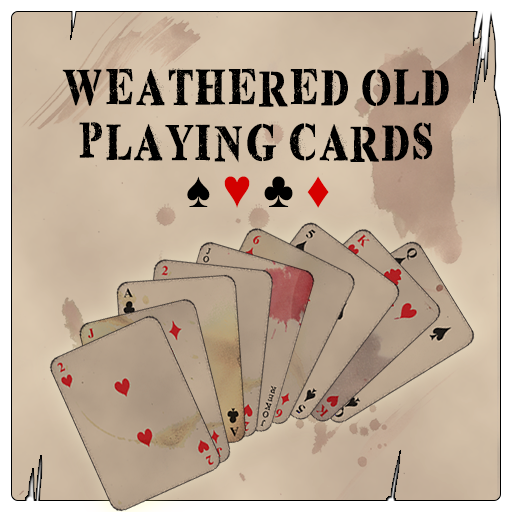 Weathered Old Playing Cards