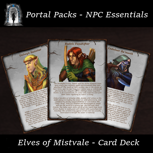 Portal Packs - NPC Essentials - Elves of Mistvale