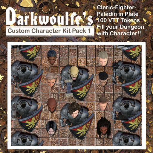 Darkwoulfe's Token Pack - Customizable Character Kit Pack 1