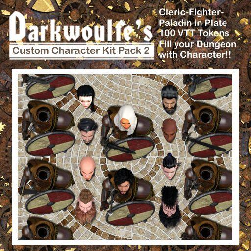 Darkwoulfe's Token Pack - Customizable Character Kit Pack 2
