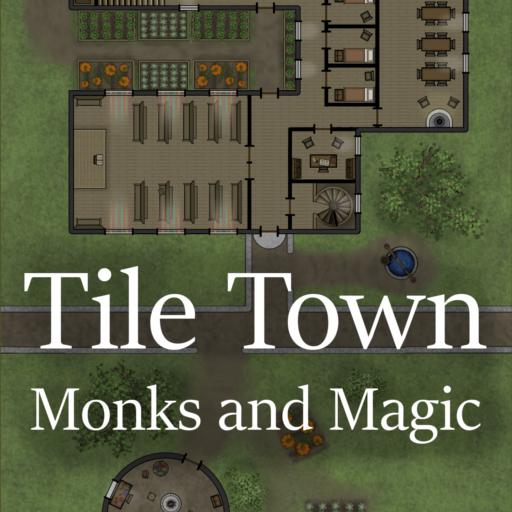 Tile Town Monks and Magic Expansion