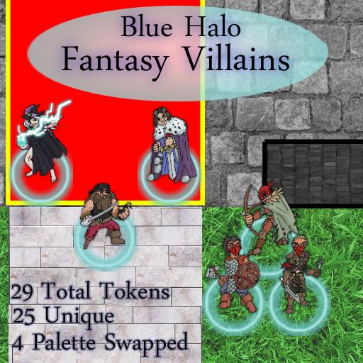 Blue Halo Fantasy Villains