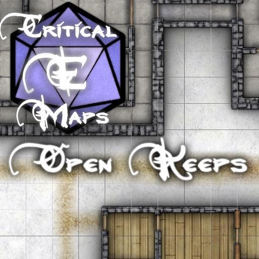 Critical E Maps: Open Keeps