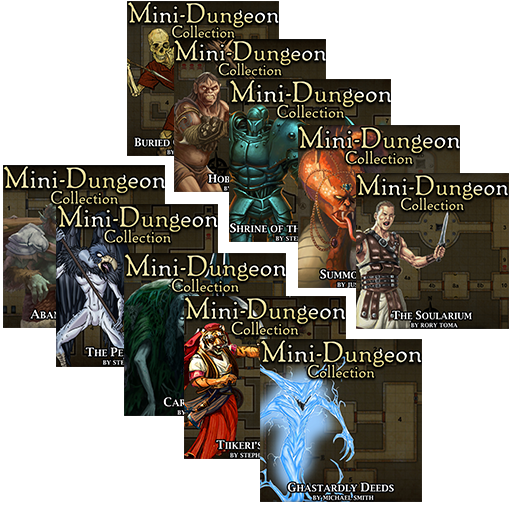 5E Mini-Dungeons Mega Bundle #001-#010