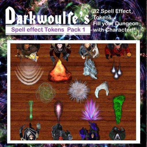 Darkwoulfe's Token Pack - Spell Effects Pack 1