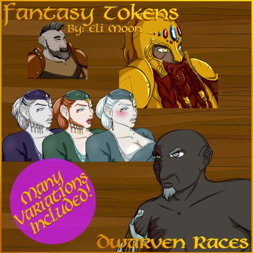 Fantasy Tokens: Dwarven Races