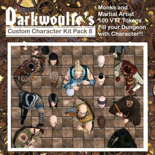 Darkwoulfe's Token Pack - Customizable Character Kit Pack 8