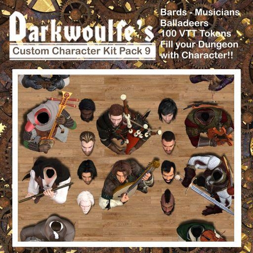 Darkwoulfe's Token Pack - Customizable Character Kit Pack 9