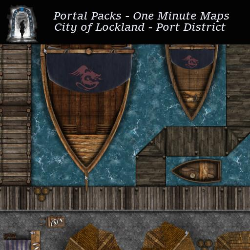 Portal Packs - One Minute Maps - City of Lockland - Port District