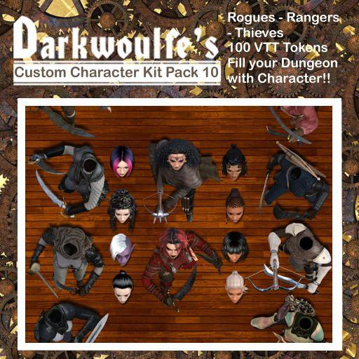 Darkwoulfe's Token Pack - Customizable Character Kit Pack 10